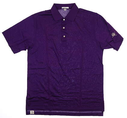 New W/ Logo Mens Peter Millar Golf Polo Large L Cabernet MF15K01 MSRP $94