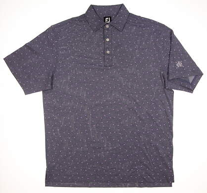 New W/ Logo Mens Footjoy Polo Large L Navy Blue 25529 MSRP $75