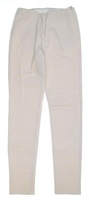 New Womens Straight Down Pull On Pants Small S Ecru MSRP $148 W50111