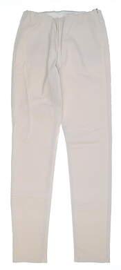 New Womens Straight Down Pull On Pants Medium M Ecru MSRP $148 W50111