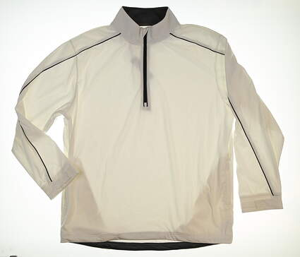New Mens Straight Down Golf Jacket Large L White MSRP $77 10129