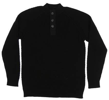 New Mens Straight Down Golf Sweater Medium M Black MSRP $178 90142