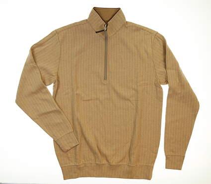 New Mens Straight Down Golf Pullover Medium M Brown MSRP $92 60343