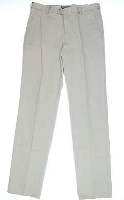 New Mens Peter Millar Golf Pants Size 35 Light Grey MSRP $149 MC0B84