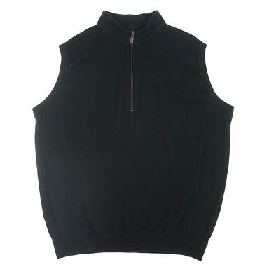 New Mens Straight Down Golf Sweater Vest Medium M Black $96