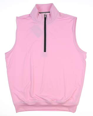 New Mens Straight Down Golf Vest Medium M Pink MSRP $90