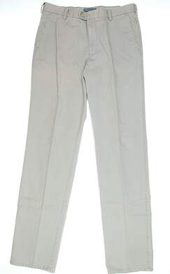 New Mens Peter Millar Golf Pants Size 38 Light Grey MSRP $149 MC0B84