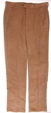 New Mens Peter Millar Corduroy Pants Size 36 Khaki MSRP $165 MF15B91