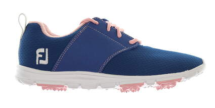 New Womens Golf Shoe Footjoy enJoy Medium 7.5 Blue/Pink MSRP $80 95710