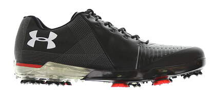 New Mens Golf Shoe Under Armour UA Spieth 2 Medium 9.5 Black/Red MSRP $200