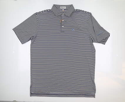 New W/ Logo Mens Peter Millar Golf Polo Large L Multi ME0EK02S MSRP $89