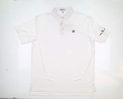 New W/ Logo Mens Peter Millar Golf Polo X-Large XL White ME0EK01S MSRP $89