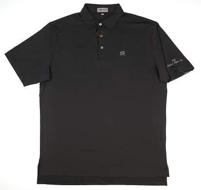 New W/ Logo Mens Peter Millar Golf Polo Large L Gray MSRP $89 ME0EK01S