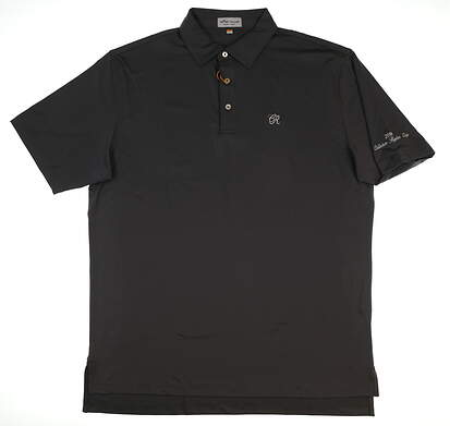 New W/ Logo Mens Peter Millar Golf Polo Large L Gray MSRP $89