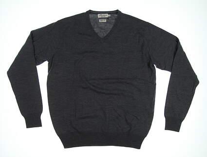 New Mens Peter Millar Sweater Large L Gray MSRP $160 MF17S31