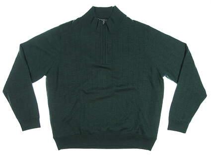 New Mens Bobby Jones 1/4 Zip Wool Sweater XX-Large XXL Pine Green MSRP $249 BJL47003