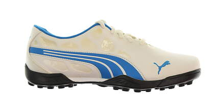 New Junior Golf Shoe Puma Biofusion Jr. 5 White/Blue MSRP $65