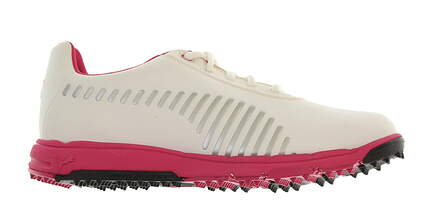 New Junior Golf Shoe Puma FAAS Grip Jr. 5.5 White/Pink MSRP $65