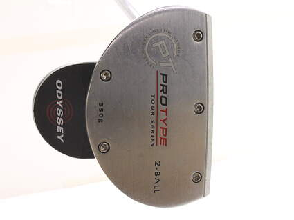 Odyssey Protype Tour 2-Ball Putter Stock Steel Shaft Steel Left Handed 35 in