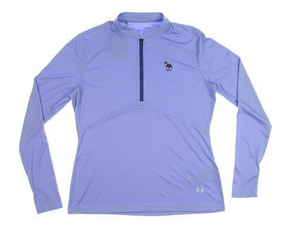 New W/ Logo Womens Under Armour 1/2 Zip Pullover Large L Blue MSRP $82