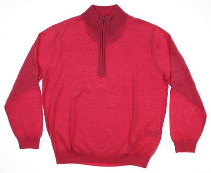New Mens Footjoy Merino 1/2 Zip Sweater Large L Pink MSRP $199 23626