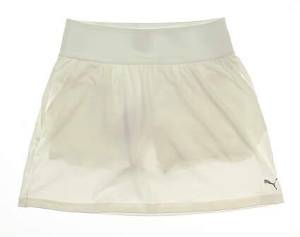 New Womens Puma PWRSHAPE Solid Knit Skort Size X-Large XL Bright White MSRP $65 574542 02