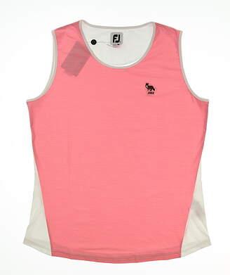 New W/ Logo Womens Footjoy Spacedye Tank Top Large L Pink MSRP $80 27453