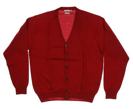 New Mens Peter Millar Cardigan Medium M Red MSRP $199 MC00S56