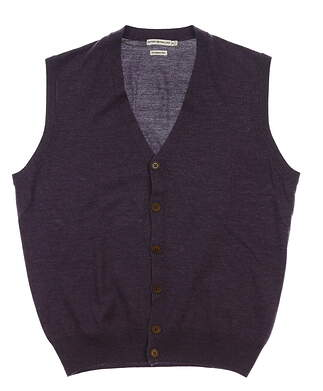 New Mens Peter Millar Sweater Vest Medium M Purple MSRP $170 MC00S57