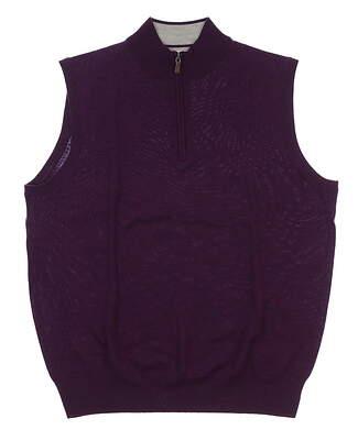 New Mens Peter Millar Sweater Vest Large L Purple MSRP $168 MF15S54