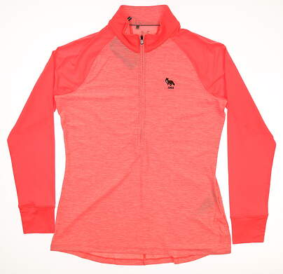 New W/ Logo Womens Under Armour 1/2 Zip Pullover Large L Pink MSRP $70
