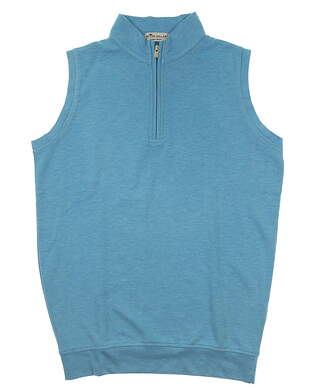 New W/ Logo Mens Peter Millar Golf Vest Small S Blue MSRP $168