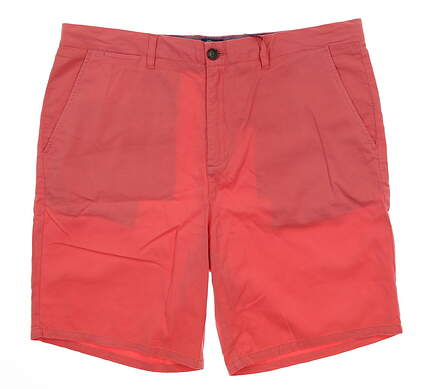 New Mens Johnnie-O Cabrillo Golf Shorts Size 38 Coral Reefer MSRP $98 JMSH1230