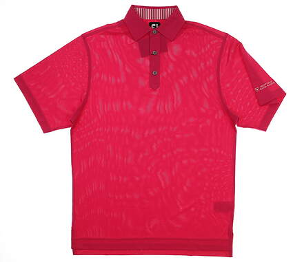 New W/ Logo Mens Footjoy Stretch Pique Polo Small S Pink MSRP $72