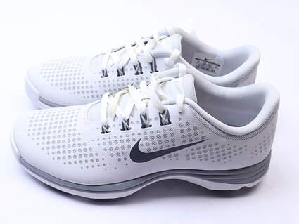 New Womens Golf Shoe Nike Lunar Empress 6 White/Grey MSRP $100