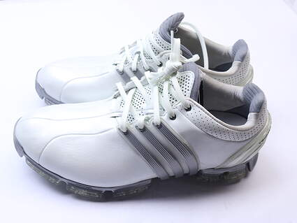 New Mens Golf Shoe Adidas Tour 360 Boost 3.0 8.5, 9 White/Grey MSRP $200
