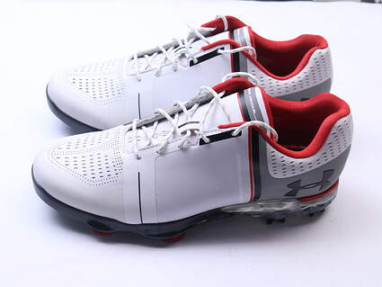 New Mens Golf Shoe Under Armour UA Spieth One 9 White/Red MSRP $200