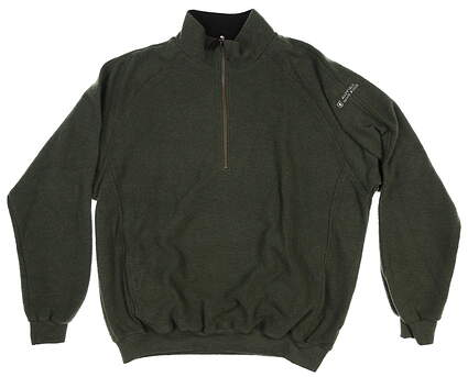 New W/ Logo Mens Straight Down 1/4 Zip Golf Sweater Large L Green MSRP $108