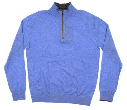 New Mens Greyson 1/4 Zip Golf Sweater Small S Blue MSRP $285