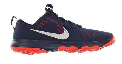 New Mens Golf Shoe Nike FI Bermuda 9.5 Navy Blue/Bright Crimson MSRP $110