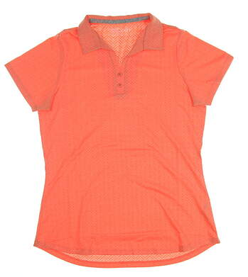 New Womens Heather Grey Becca Golf Polo Small S Tangerine MSRP $70 S-210027