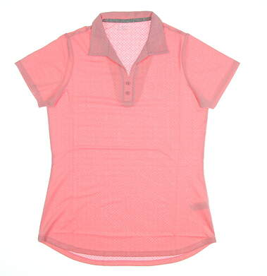 New Womens Heather Grey Becca Golf Polo Small S Rose MSRP $70 S-210027
