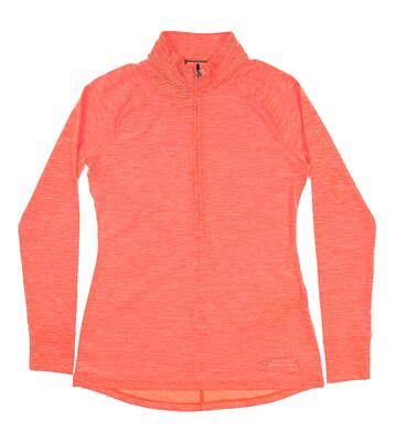 New Womens Under Armour 1/4 Zip Pullover Small S Orange MSRP $99