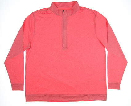 New Mens MATTE GREY 1/2 Zip Pullover XX-Large XXL Pink MSRP $85