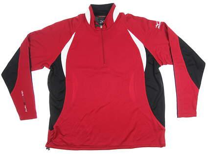 New Mens Mizuno 1/2 Zip Pullover Medium M Red MSRP $99