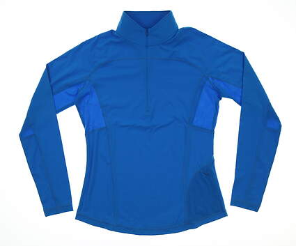 New Womens Footjoy 1/4 Zip Pullover Small S Blue MSRP $115 22933