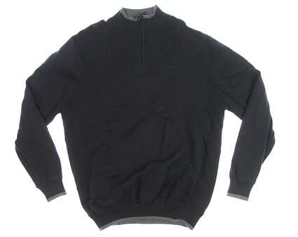 New Mens Mizuno 1/4 Zip Wind Sweater X-Large XL Black MSRP $135