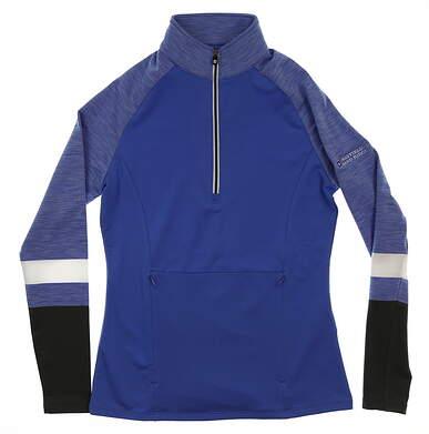 New W/ Logo Womens Footjoy Golf 1/2 Zip Pullover X-Small XS Blue MSRP $115 27542