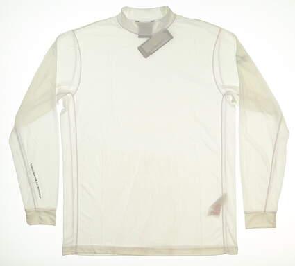 New Mens Mizuno Base Layer Medium M White MSRP $70