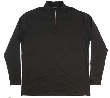 New Mens Mizuno 1/2 Zip Pullover XX-Large XXL Black MSRP $94